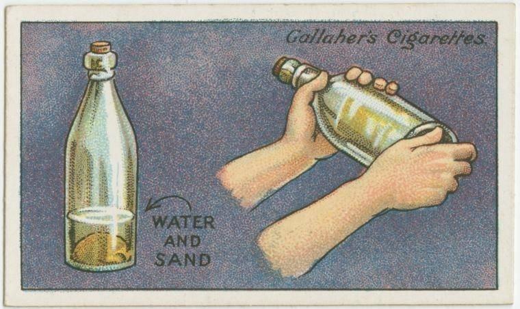 13. Como limpar uma garrafa: para lavar o interior de uma garrafa, coloque um pouco de areia e água, e chacoalhe bem. E enxágue muito bem