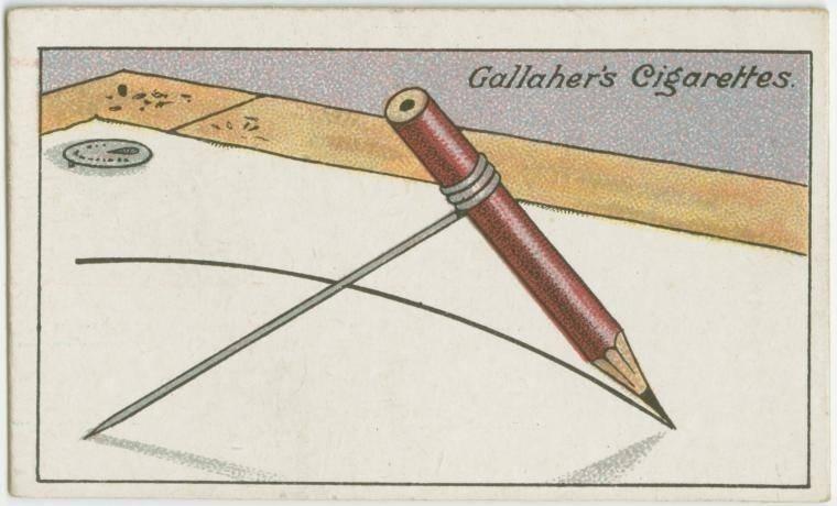 15. Como desenhar um círculo sem um compasso: enrole um arame em volta de um lápis e apoie a outra ponta do arame no centro do círculo. Ou use a ferramenta elipse do Photoshop