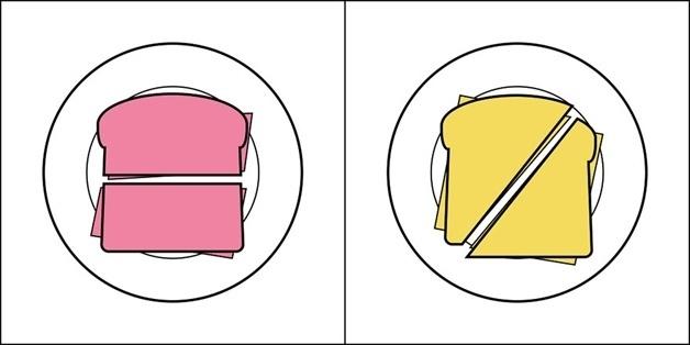 15.jun.2015 - Sanduíche cortado na horizontal ou na diagonal?