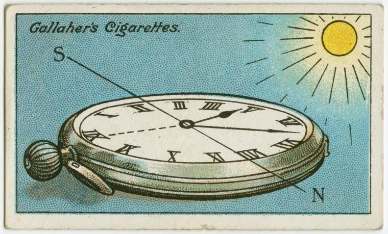 20. Como se orientar com os ponteiros de um relógio: vire o ponteiro das horas em direção ao sol e trace uma linha transversal entre o ponteiro das horas e o número 12. O final desta linha apontará para o Sul. Achou fácil? Eu ainda prefiro usar o GPS