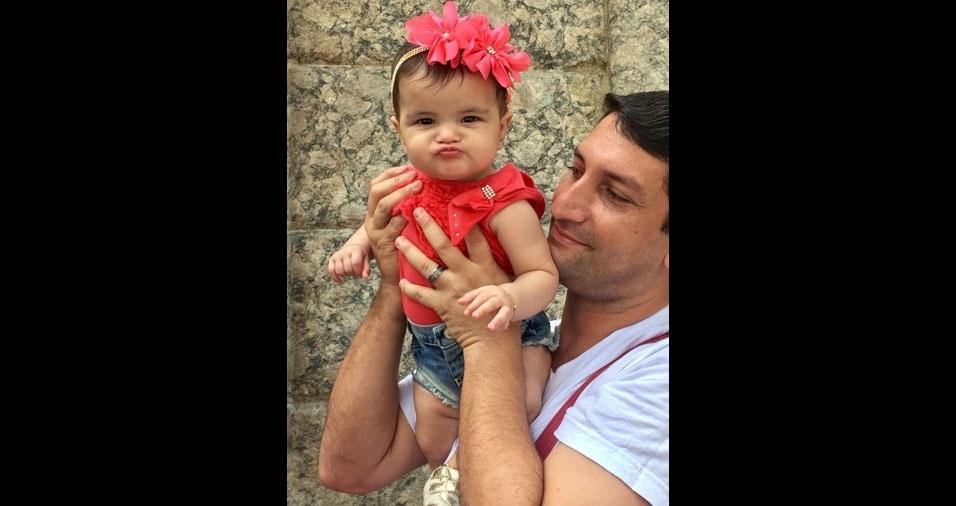 Sophia com o papai Fábio Brederode, do Rio de Janeiro (RJ)