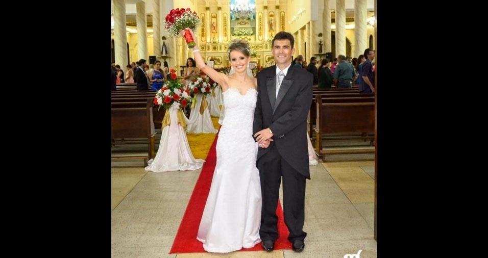 Giselle Aparecida Machado Corrêa e Luis Fernandes Corrêa subiram ao altar em 19/09/2015, em Castro (PR)