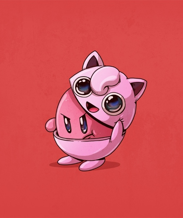 21.out.2015 - Dois personagens dos games da japonesa Nintendo, o pokemon fofinho Jigglypuff é o outro lado da personalidade do valente Kirby