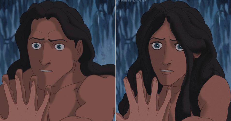 6.jan.2016 - Tarzan também trocou de gênero nas ilustrações de TT Brent