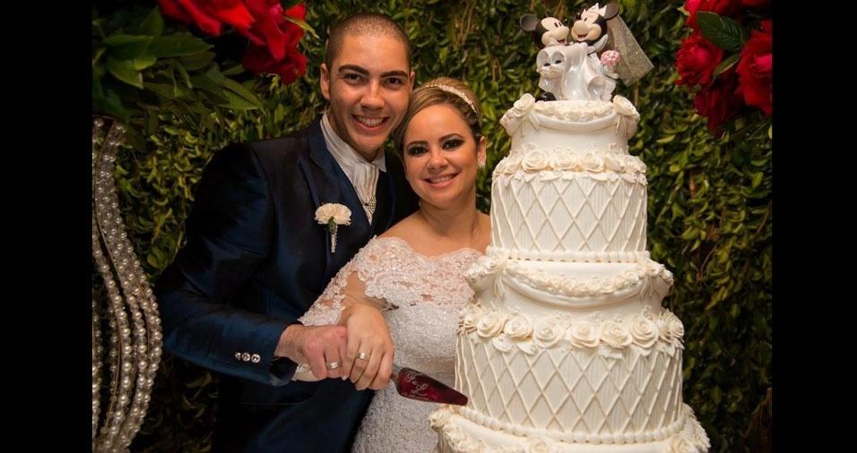 Fernanda Dantas e Lucas Henrique da Silva se casaram em 26 de agosto de 2016, no Maison Bela Vista, em Osasco (SP)