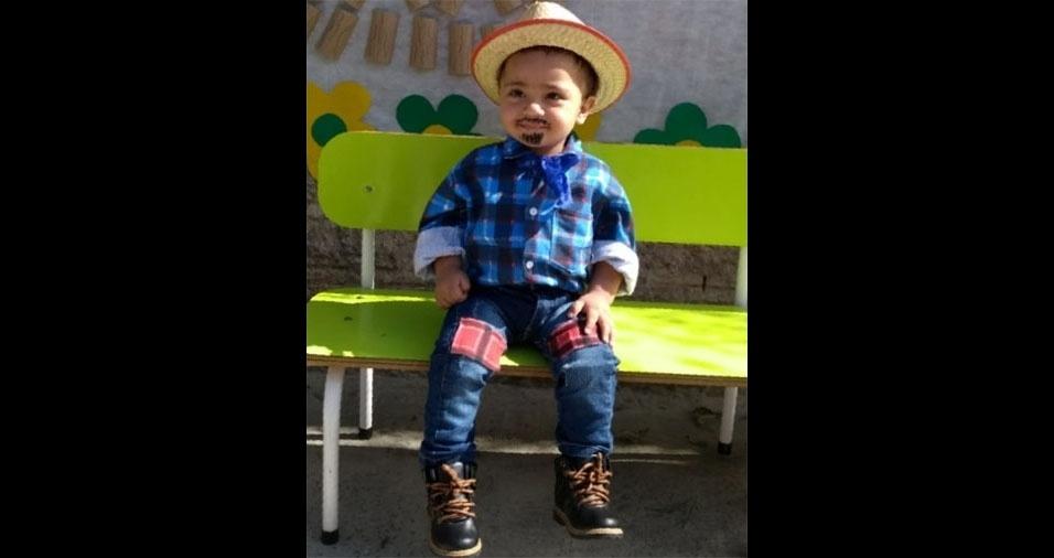 Monise Fernanda enviou foto do filho José Henrique, um ano e cinco meses, de Porto Feliz (SP)