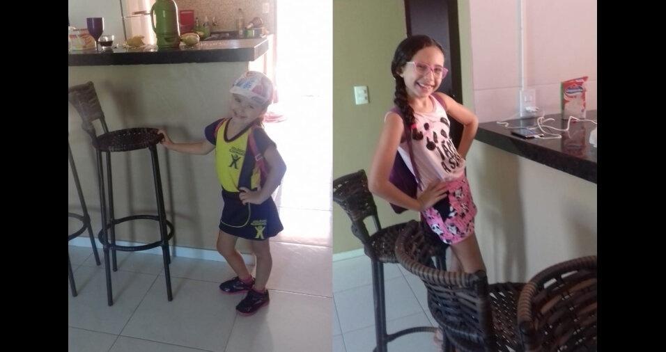 A Cícera de Oliveira Lobo, de Crato (CE), mandou foto da Angela e da Angelica