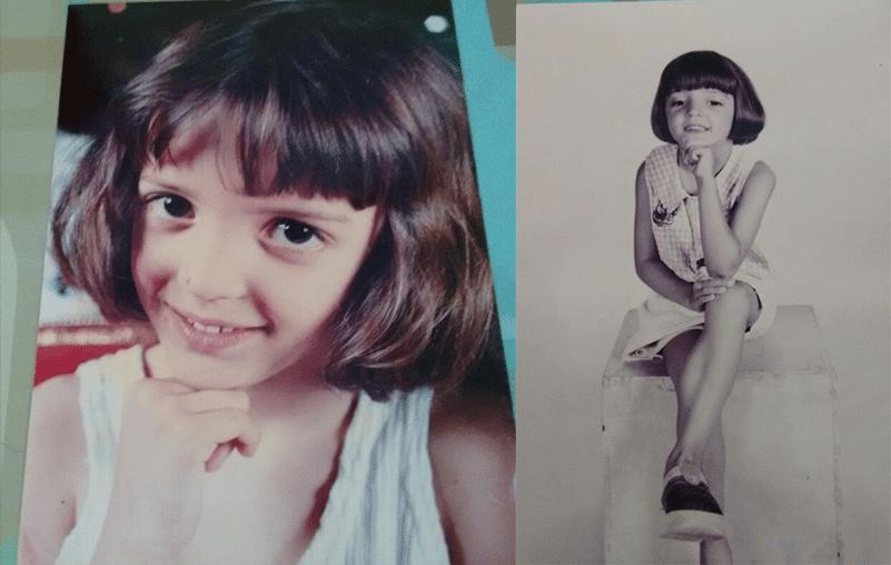 Aos cinco aninhos, a Juliana Butolo tinha carinha de sapeca e já mostrava que levava jeito para atriz!