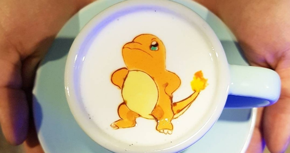 41. Não foi só o Pikachu que ganhou direito a estar no café. O Charmander também já marcou presença no trabalho de Lee