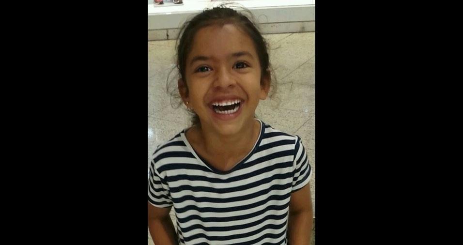 Lauriene enviou foto da filha Vitória, de sete anos