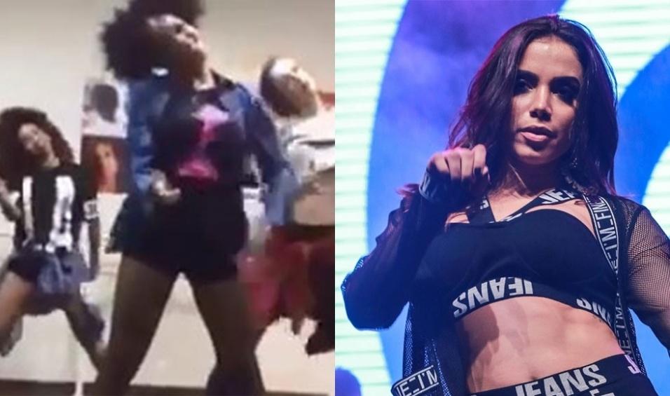 """14.nov.2015 - Quem pensava que a cantora Anitta só colocava as brasileiras para dançar se enganou feio. As bailarinas da estrela Beyoncé apareceram em um vídeo rebolando ao som do sucesso """"Bang"""" da brasileira"""