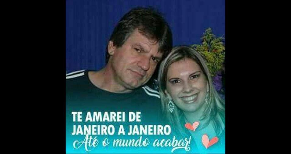 Daniela Aline Dorigan com o pai José Roberto Dorigan, de Amparo (SP)