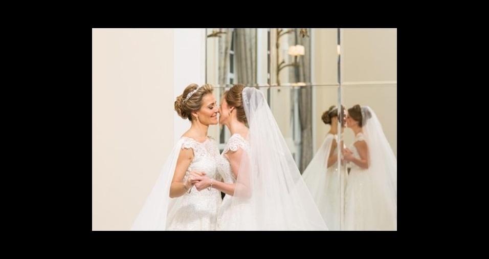 10.mar.2018 - Roberta Gradel e Priscila Raab fizeram a primeira festa de casamento homoafetivo do Copacabana Palace