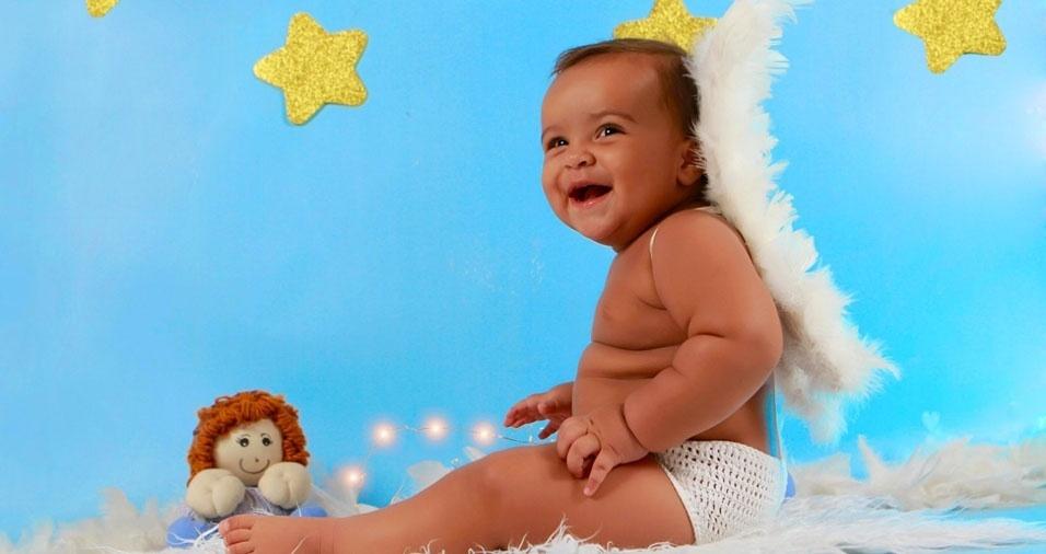 A mãe Telma enviou foto de seu anjo, o filho Yuri Henrique