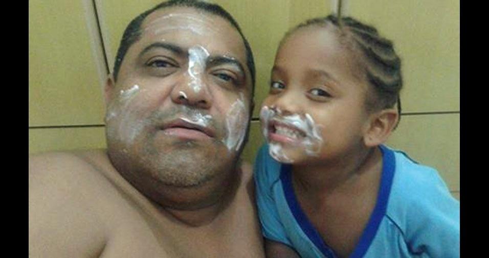 Maria Beatriz e o papai Edi Carlos, de Campinas (SP)