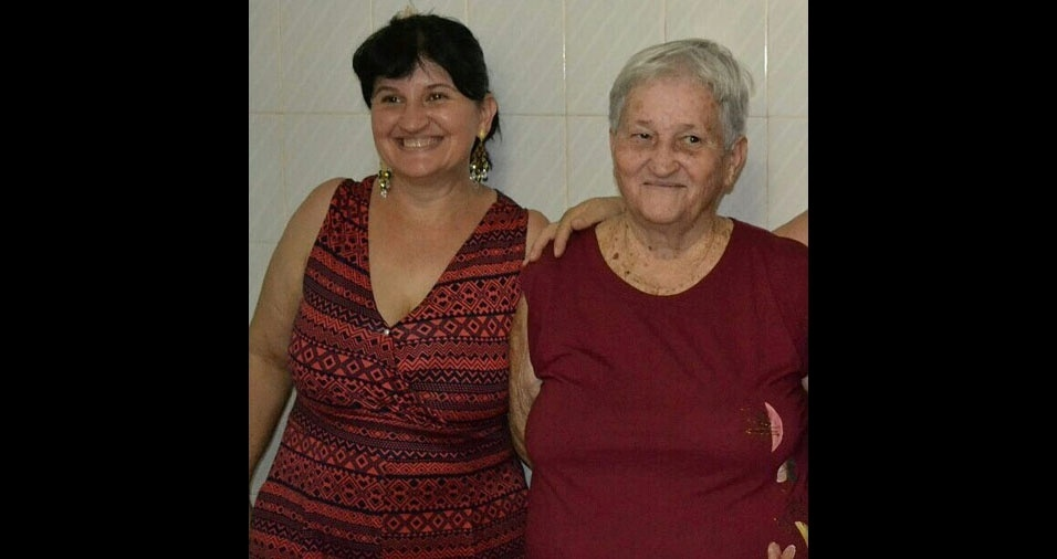 """Regina Bortoloti, de Piracicaba (SP), homenageia a mãe Luiza Bortoloti: """"Minha mãe, minha amiga, minha companheira, amo demais. Tudo na minha vida."""""""