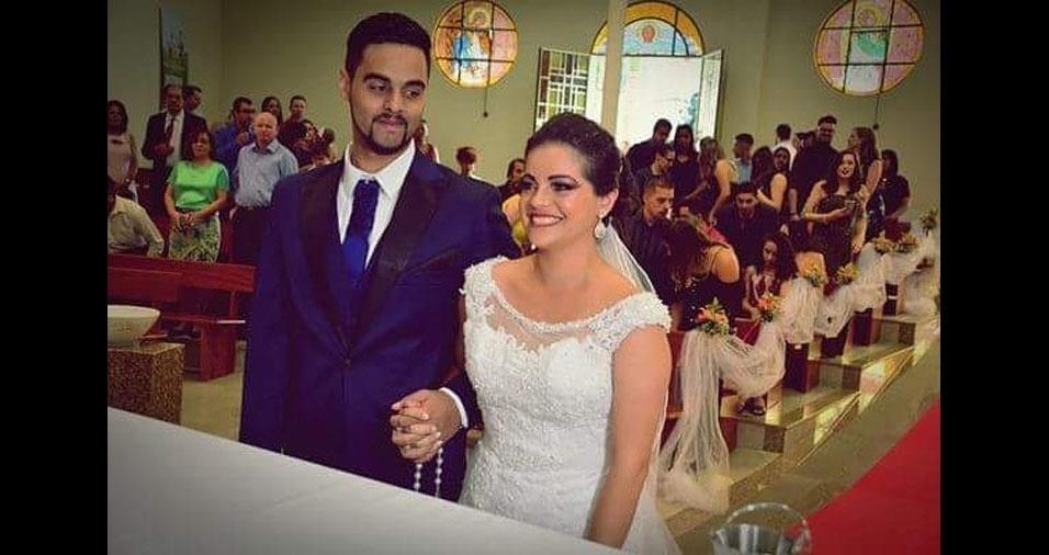 Agatha de Souza Marques Marins e Kelvin Alexsander Marins se casaram em 27/01/2018, em Caieiras (SP)