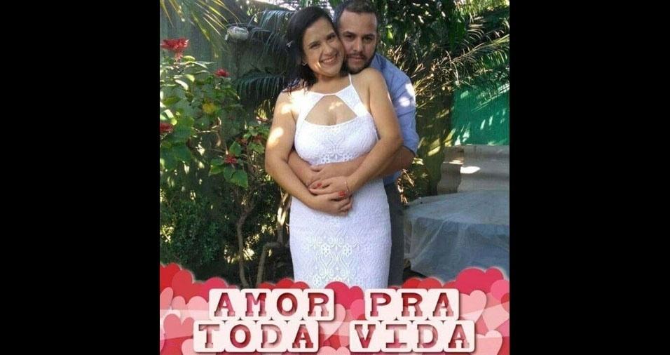 Marcela Aparecida Alves do Nascimento de Souza se casou com Anderson Aparecido de Souza em 28 de agosto de 2017, em São Paulo (SP)