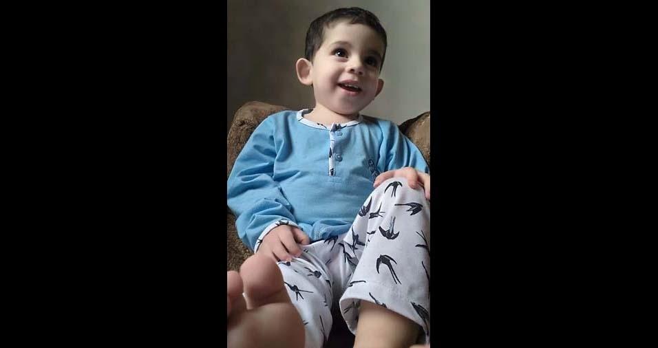 Rodrigo, de Campos dos Goytacazes (RJ), enviou foto do filho Raphael, de um ano e dois meses