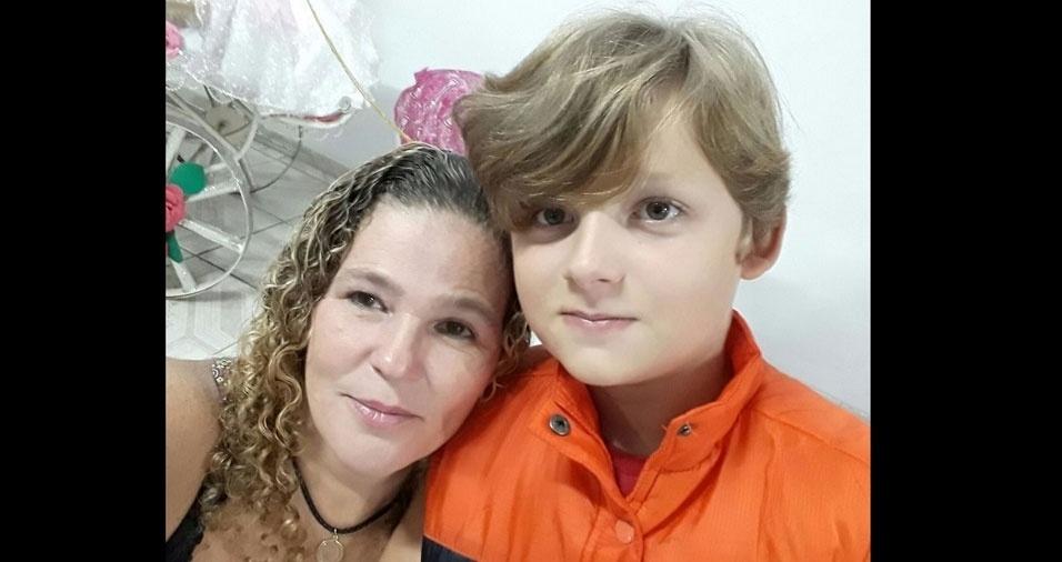 Mariane, de São Paulo (SP), com seu príncipe Davi