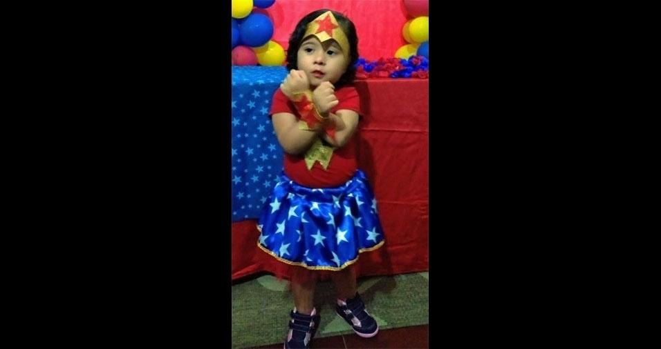 O papai Julio Cesar enviou foto da princesa Rafaela, de São Vicente (SP)
