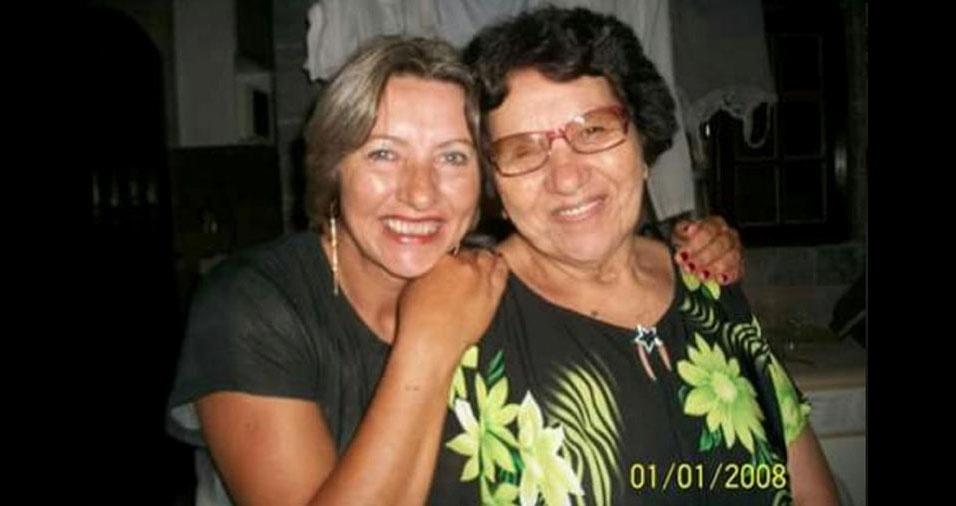Cleide, de Suzano (SP), com a mãe Dolores