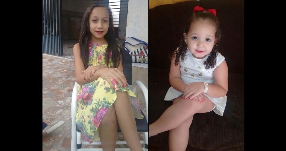 Welbister Marlon, de Presidente Epitácio (SP), enviou foto das filhas Bianca Iara e Beatriz Ribeiro