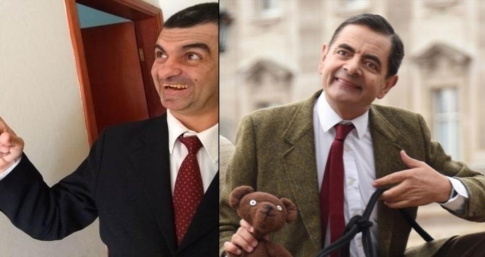 Paulo Henrique Risk dos Santos, de Indaiatuba (SP), se acha parecido com o Mr. Bean
