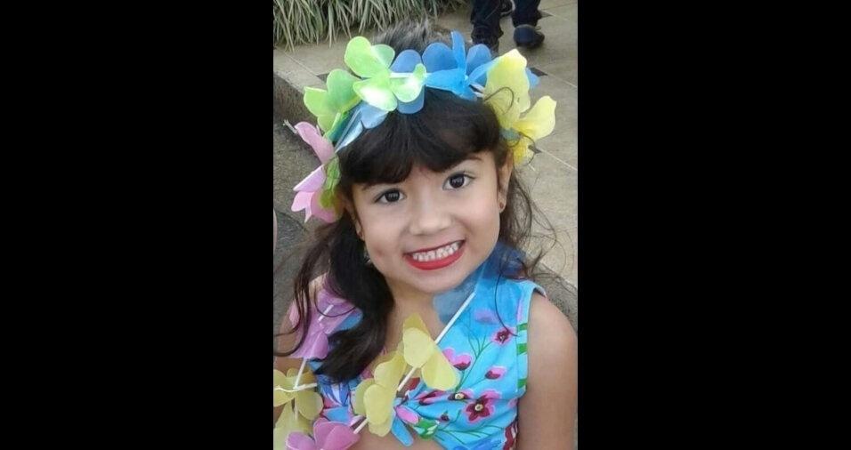 Sophia, de cinco anos, é filha da Ana Luiza e do Alysson, moradores de Ibiá (MG)