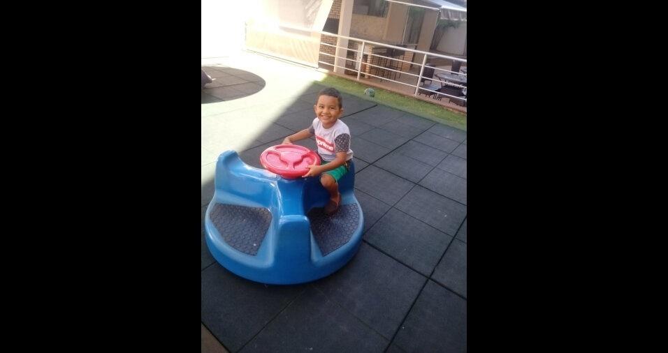 Foto de Luan Victor Pereira da Silva, filho da Cleidiane, de Riacho Fundo (DF)