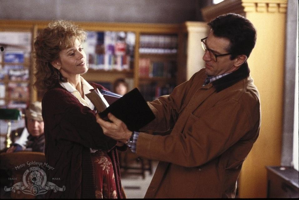 """1990 - """"Stanley & Iris"""" marcou o último filme de Jane Fonda, contracenando com Robert De Niro na foto, antes de uma pausa de 15 anos longe dos filmes"""