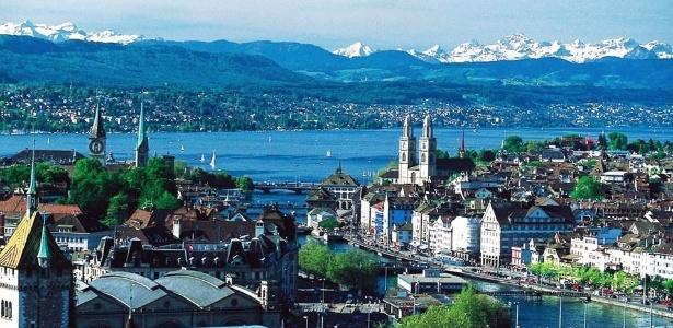 """Pesquisa revela que Zurique é a cidade que mais atrai """"talentos"""" no mundo - Reprodução/Airlines-Airports"""