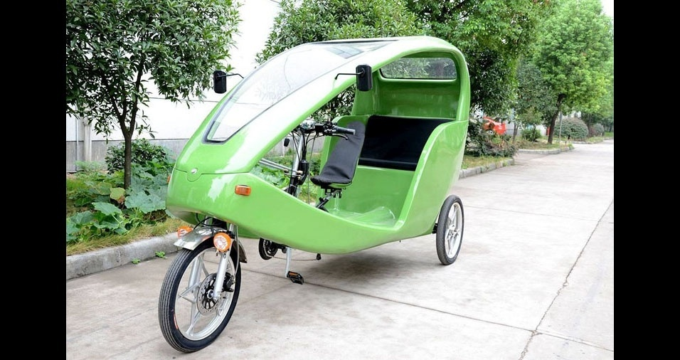 26. Na cidade do México, os táxis também são movidos à pedaladas