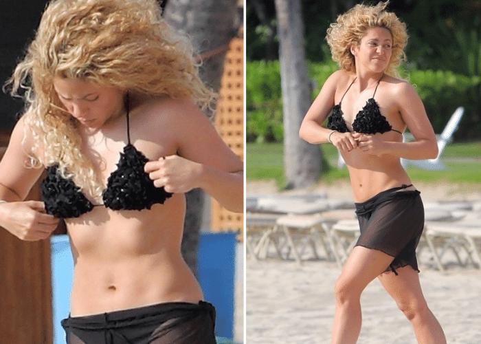 26.jul.2013 - Apenas seis meses após dar à luz o pequeno Milan, fruto de seu casamento com o jogador Gerard Piqué, Shakira exibe forma impecável durante férias do Havaí. Em bom