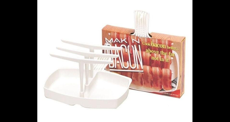 20. Suporte para cozinhar bacon no micrrondas