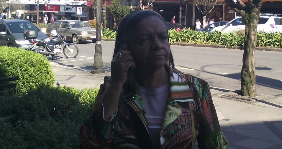 Eudes enviou foto de sua mãe Maria dos Santos, de 76 anos, de Belo Horizonte (MG)