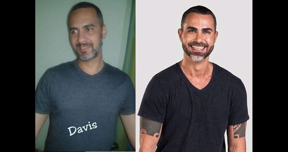 Davis, de São Paulo (SP), se acha parecido com o Bolinha do Pânico na TV