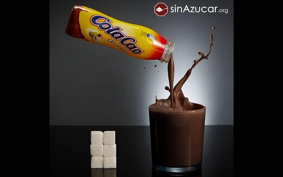 Um copo de 200 ml de leite achocolatado tem 23 g de açúcar