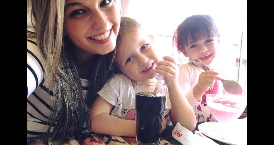 Juliana com as filhas Nicolle e Emilly, de São Paulo (SP)