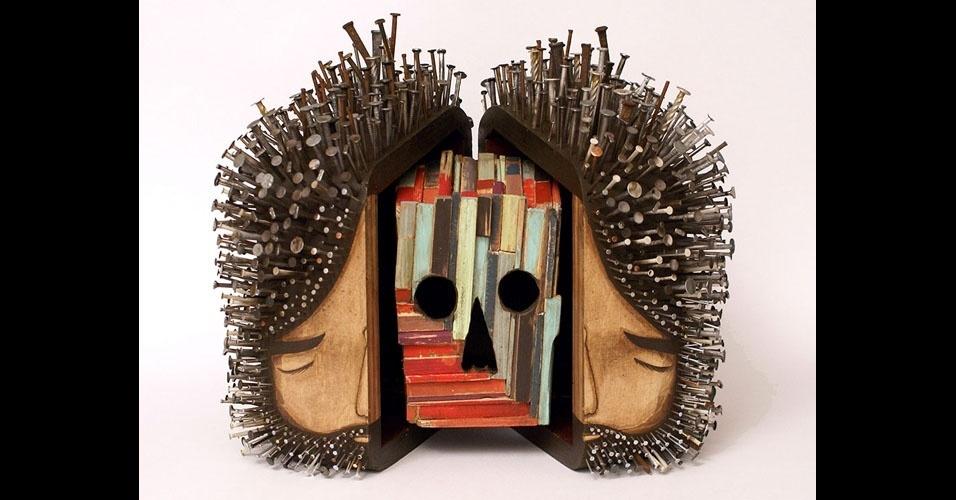 24. Trabalho de Jaime Molina com madeira e pregos