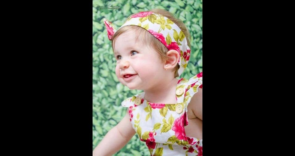 Rafael e Juliana, de Jundiaí (SP), enviaram a foto da princesa Lara, de 11 meses