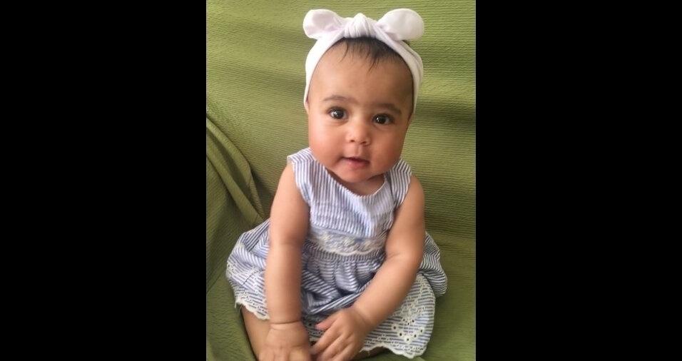 A Maísa Aparecida Costa mandou foto da filha Kiara. Elas moram em Guarulhos (SP)
