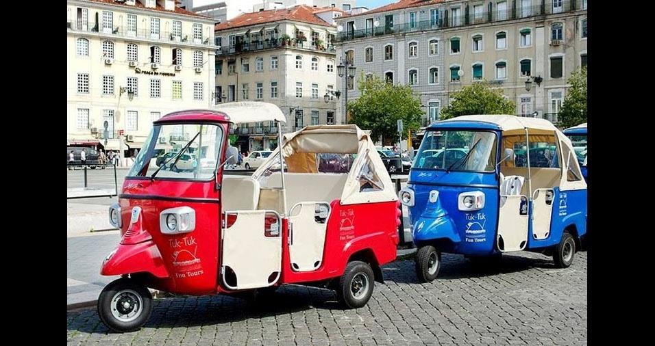 30. Em Lisboa, Portugal, também são usados os pequenos Tuc-Tucs como táxis