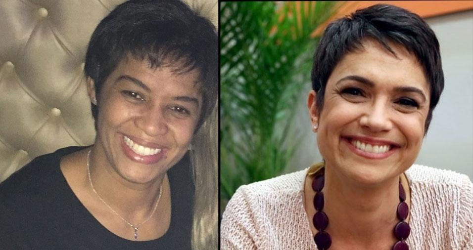 """Andreia Ribeiro, de Uberlândia (MG), conta: """"dizem que sou parecida com a Sandra Annenberg"""""""