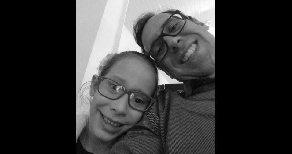 Papai Ricardo com a filha Gabriele, de Sertãozinho (SP)