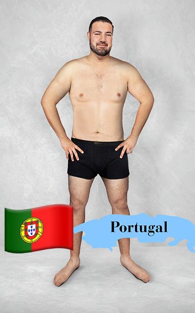 18.fev.2016 - O site Superdrug.com pediu para designers gráficos de 19 países diferentes editarem uma foto de uma pessoa com um físico normal nos Estados Unidos de acordo com os padrões locais. O resultado acima veio de Portugal
