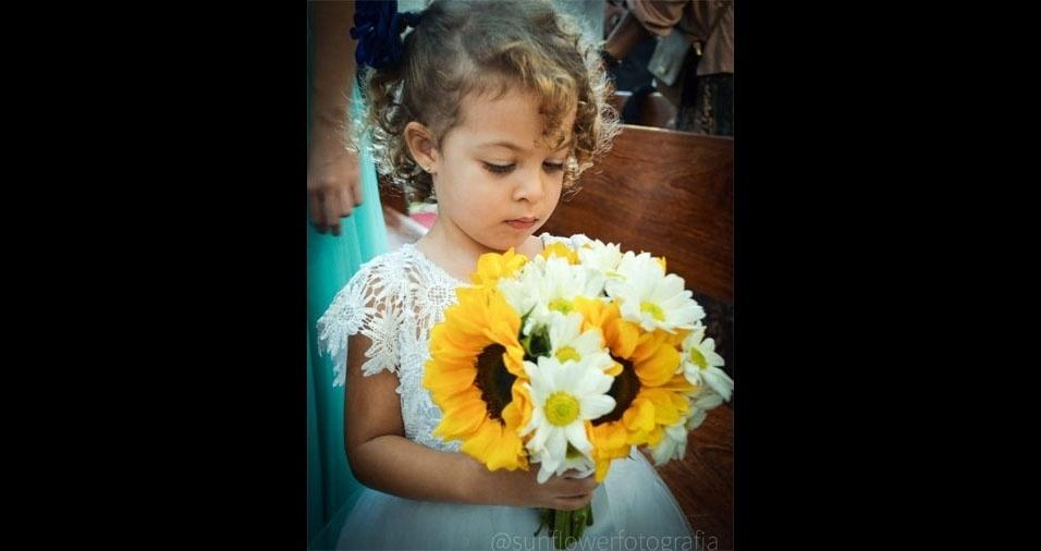 De Itaboraí (RJ), a Ana Paula de Andrade Costa enviou foto da pequena Micaela