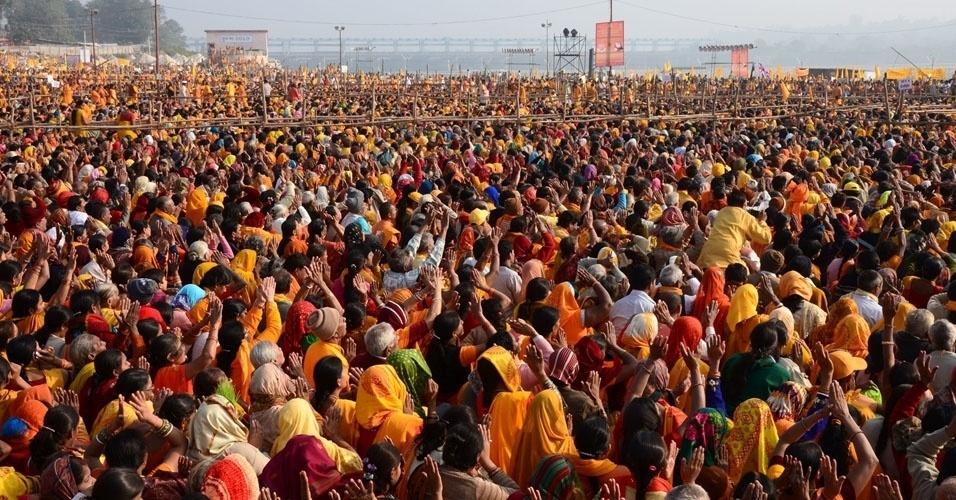 1. O festival hindu Kumbh Mela, que acontece quatro vezes a cada 12 anos, é o evento que mais reúne gente no mundo: em média, 100 milhões de pessoas participam de cada edição