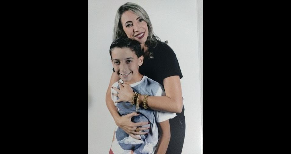 Marilza Moraes com o filho João Pedro, de Pinheiros (ES)