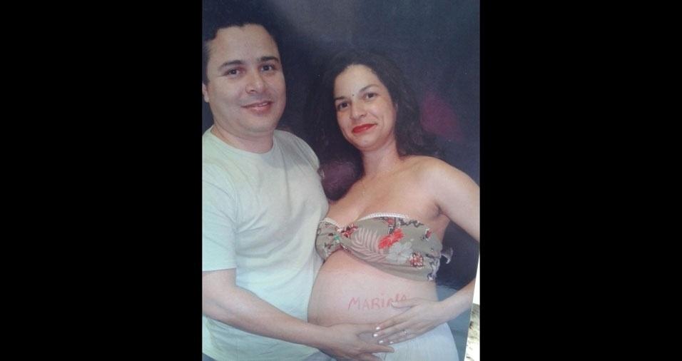 Luciana Dal Bello Nardy, de Guarulhos (SP), grávida da filha Marina, em 2007